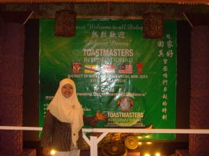 welcome Toastmaster